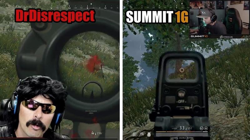 DrDisRespect kills Summit1g with Sniper Shot - PUBG (Both POVs)