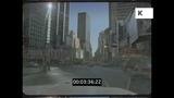 Drive Through Midtown Manhattan, 1990s New York, HD