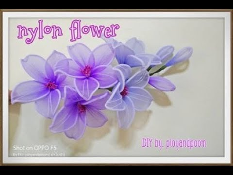 Nylon flower by ployandpoom (ผ้าใยบัว)