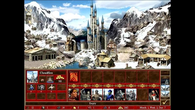 [Sir Troglodyte] Герои III, 1 против 7 (в Команде), Маленькая карта, Сложность 200%, Башня