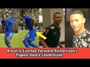 Brazil Forward Richarlison's Pigeon Dance Celebration - Neymar Likes It - Funny