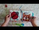 Развивающая книга из фетра и ткани для малышки 1515см
