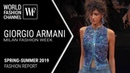 Giorgio Armani - Milan fashion report spring-summer 2019