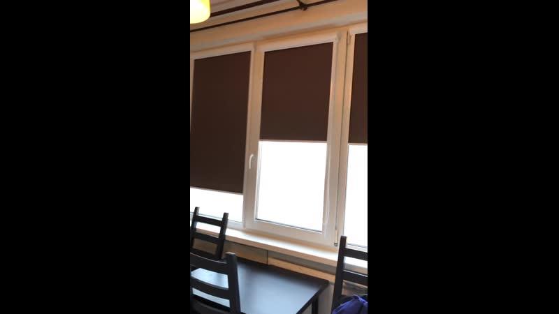 Рулонные шторы UNI2 ткань Альфа блек аут