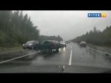 Авария создала четырехкилометровую пробку на трассе