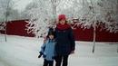 Зимние забавы/ winter fun/ Катание с горки/ Riding a roller coaster