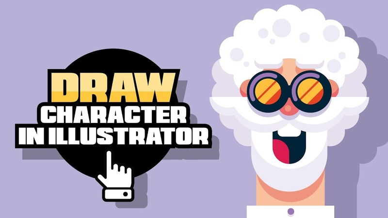 How To Draw A Character In Illustrator Flat Design Face Gigantic
