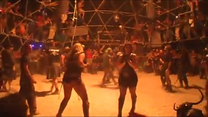 DEATH GUILD THUNDERDOME CAGE DOME FIGHT BURNING MAN