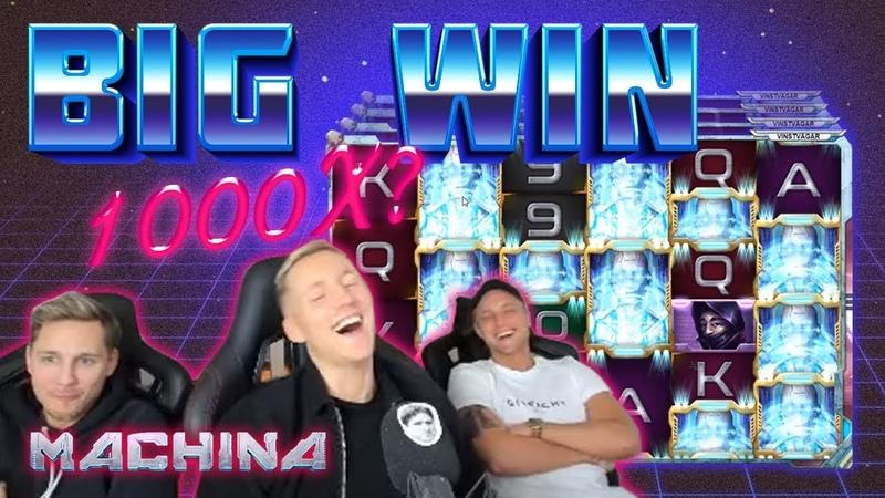 BIG WIN Machina - HUGE WIN on low bet from CasinoDaddy Live Stream