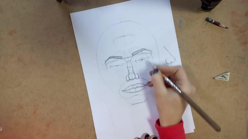 Как нарисовать портрет_ ПОЛНЫЙ РАЗБОР! Пропорции головы и лица. Анатомия. Рисуем