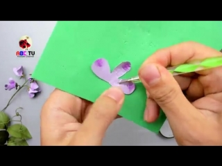 ABC TV _ How To Make Sweet Pea Paper Flower With Shape Punch - Craft Tutorial.mp4