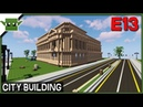 Minecraft Building a City 13 - City Hall and Library and More!