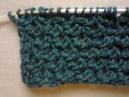 Узор плетенка букле вязание на спицах Pattern braided boucle knitting
