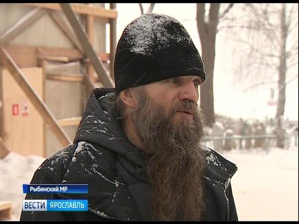 В селе Хопылево Рыбинского района восстанавливают храм, в котором крестили Федора Ушакова