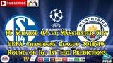 FC Schalke 04 vs Manchester City UEFA Champions League 2018-19 Predictions FIFA 19