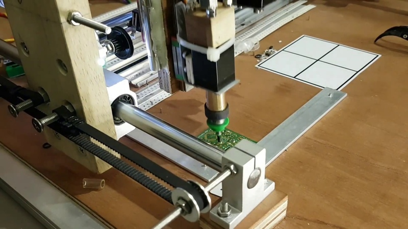 Homemade SMD pnp machine