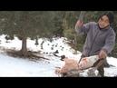 【野食小哥】之一個人,半隻羊,在零下30度的雪山上煮了一大盆羊肉蝎233