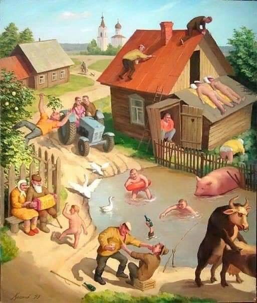 совместимых с жизнью нет условий но хорошо в деревне летом всё равно © vsprugis