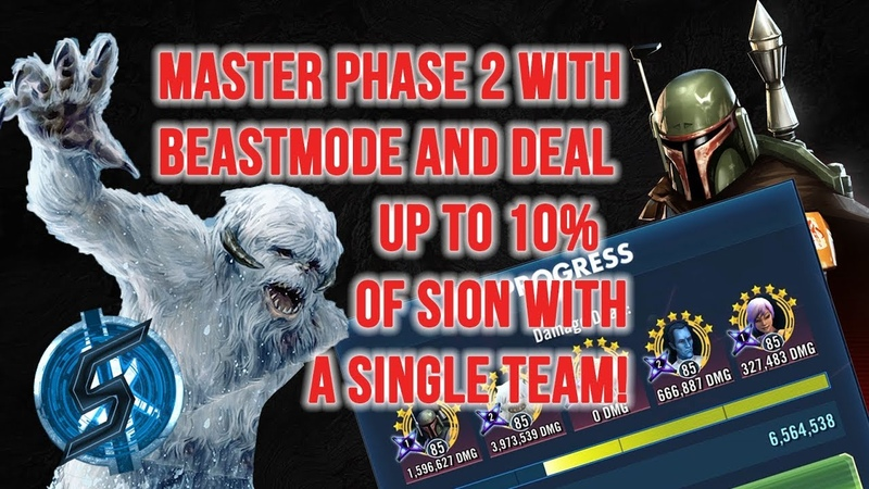 [EN] AIM FOR 10% OF SION - MASTER HEROIC SITH RAID PHASE 2 WITH BEASTMODE - FEAT. TRAYGUS