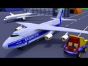 Грузовик Тема и грузовой самолет. Приключения в аэропорту. Поможем аэродромному тягачу.
