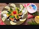 Тосты со сливочной пастой и овощами