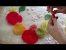 Яблоки 🍎🍏 🍎 выкладываем рисунок шерстью Фрагмент не вошедший в ролик