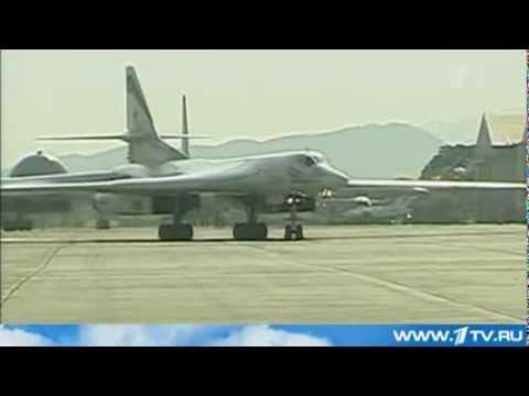 Два Российских Ракетоносца Ту-160 Приземлились В Венесуэле. 2013