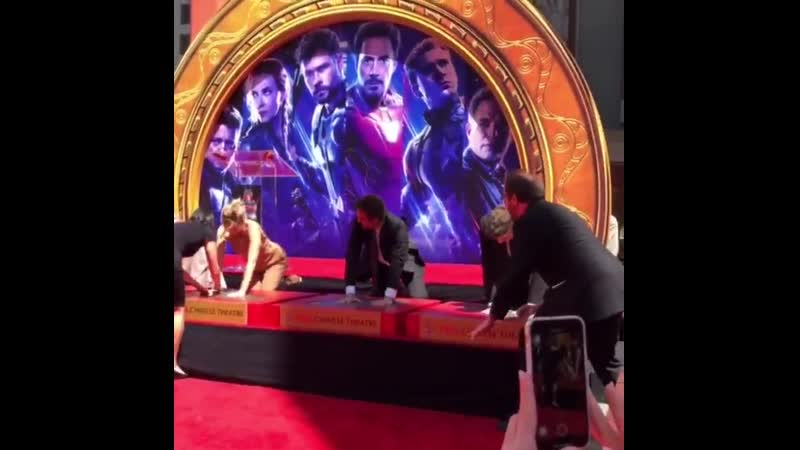 The Avengers assembled this morning at the TCL Chinese Theatres IMAX in Hollywood for thei