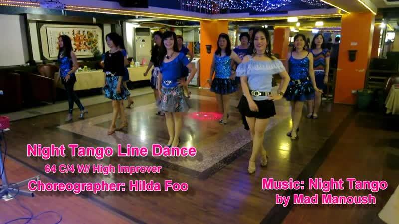 Night Tango Line Dance(By Hilda Foo)