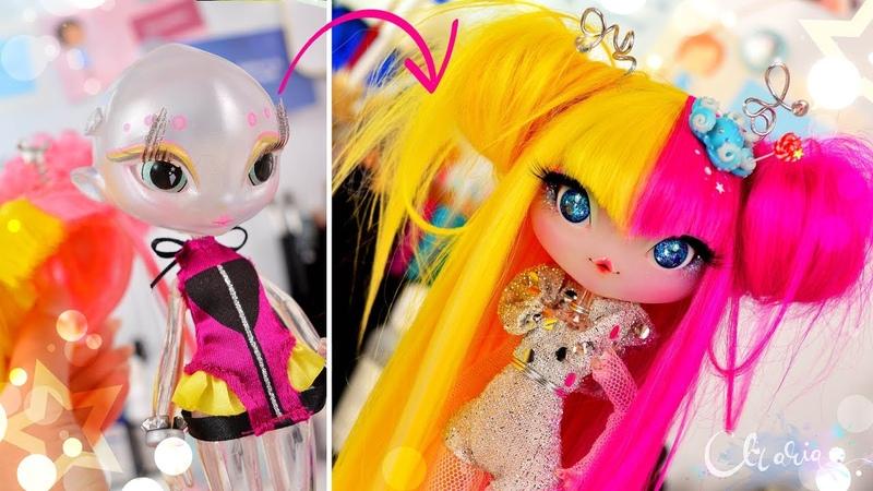 Repainting Originals - Alien Doll Cici Thru, Open Resin Eyes Mod, Doll Wig, Novi Stars OOAK