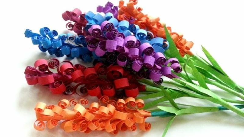Hướng dẫn làm hoa oải hương bằng giấy cực dễ | Cách làm hoa giấy | Paper lavender flower tutorial