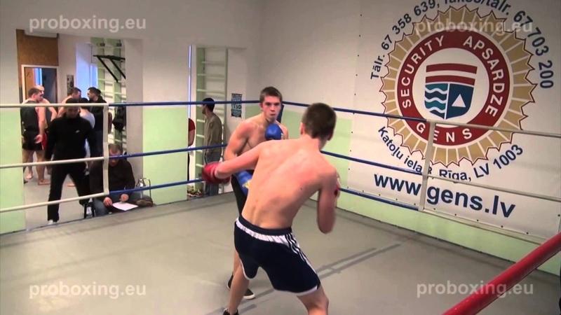 Aleksejs Ņikitenko – 65,6 kg. VS Iļja Šovdra – 67,0 kg. 10.01.2015 proboxing.eu
