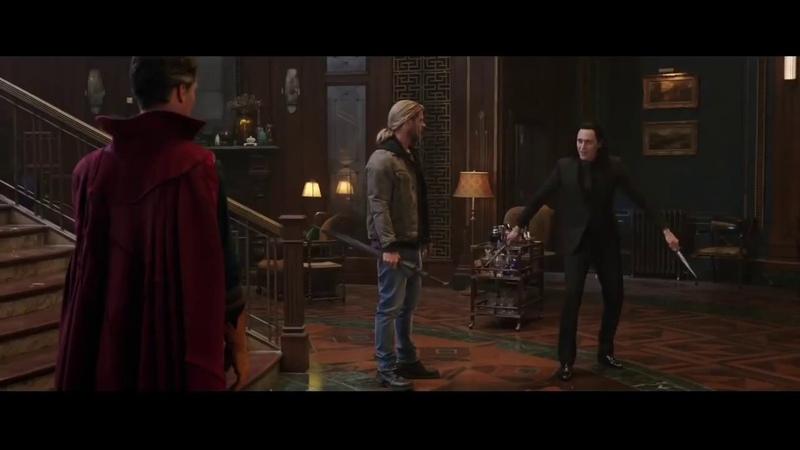 Локи против Доктора Стрэнджа. Тор 3: Рагнарёк (2017)