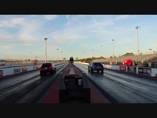 World record showdown lamborghini urus vs tesla model x p100d 14 mile drag racing