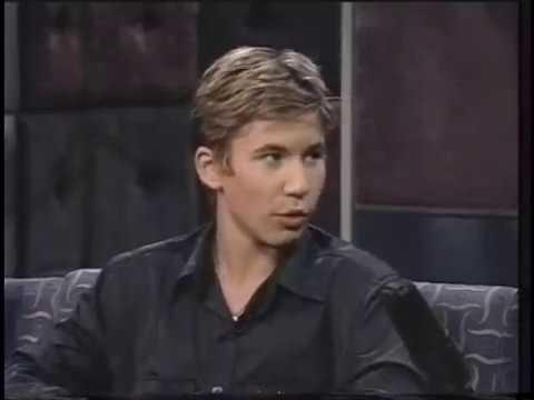 Jonathan Taylor Thomas promotes his movie Wild America in 1997