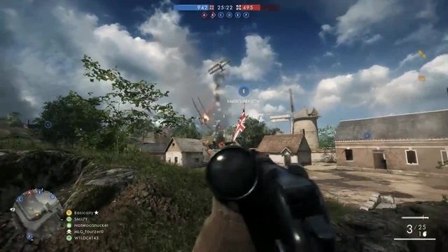 Battlefield 1 Funny Moments Flame Thrower Tornado Plane Goochstabber