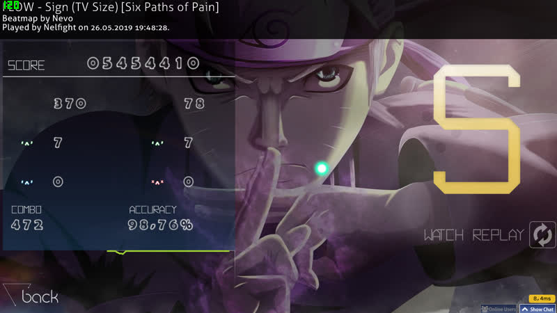 FLOW - Sign (TV Size) [Six Paths of Pain] no CB