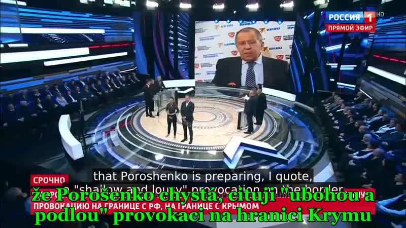 [AE News] Sergej Lavrov prohlásil, že Porošenko plánuje na konec prosince ozbrojenou provokaci na hranici Krymu! [CZ Titulky]_ar
