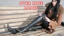 Nana's pointed toe high heeled Gianmarco Lorenzi over knee boots thigh high boots Size EU 38 US 7,5