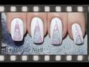 Оригинальный маникюр губкой дизайн ногтей скотчем Triangle Nails With Glitter