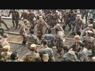 Ex handinhand2018. bole so nihal sat sri akal. troops of indianarmy chinesearmy sharing li.mp4