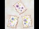 How to Decorate Hand Painted Pansy Cookies 🖌️🖌️🎨💐