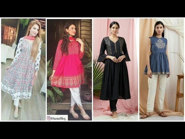 Beautiful simple & stylish casual wear dresses/kurti for girls 2018 new arrival