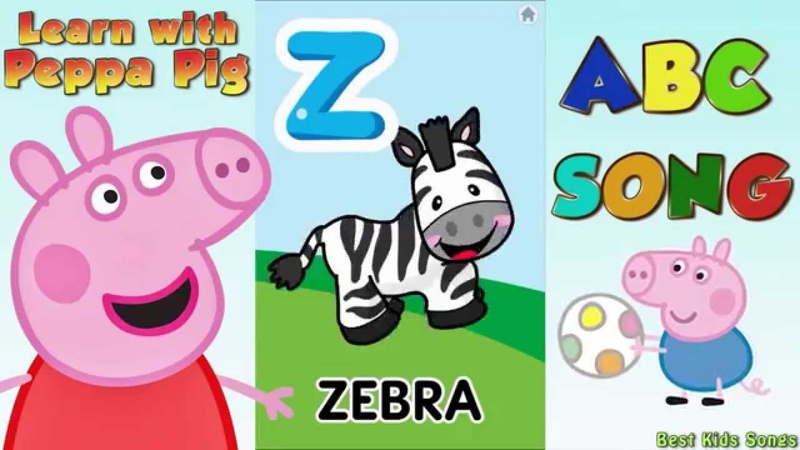 Peppa Pig - ABC Song for Kids - Learn Alphabet with Peppa Pig and Fisher Price