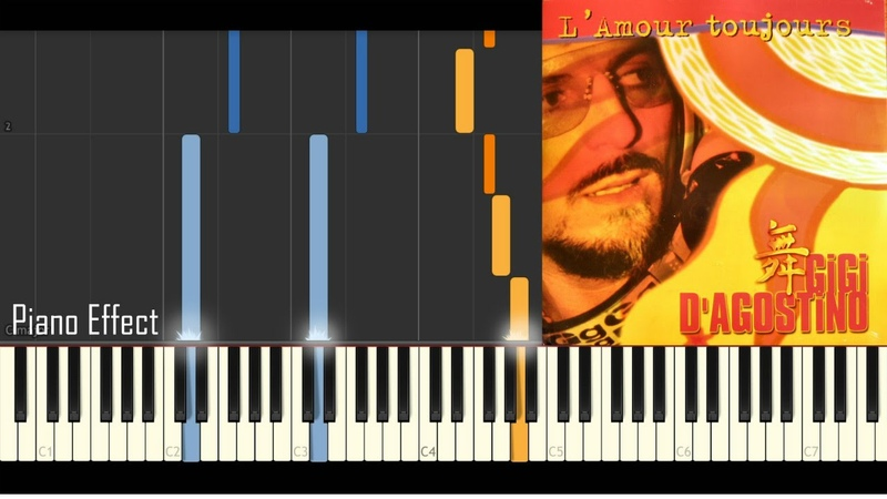 Gigi D'Agostino L'Amour Toujours I'll Fly With You Piano Tutorial Synthesia