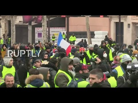 LIVE: Anti-Macron demonstration at the Champs Elysee - PART 2