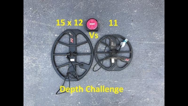 Depth Challenge - Minelab Equinox 15x12 vs 11 coils
