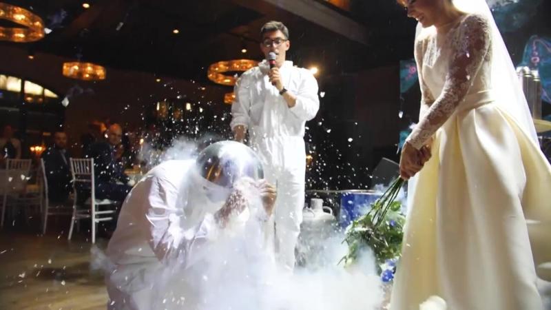 КриоШоу свадьба в ресторане Модус
