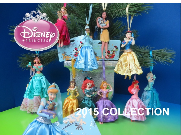 NEW Disney Princess 2015 Holiday Sketchbook Ornament Collection Christmas Decor Ariel Mulan Elsa