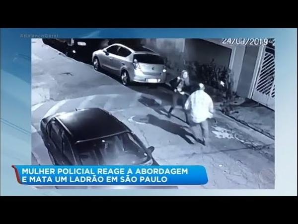 Mulher reage a assalto e mata criminoso